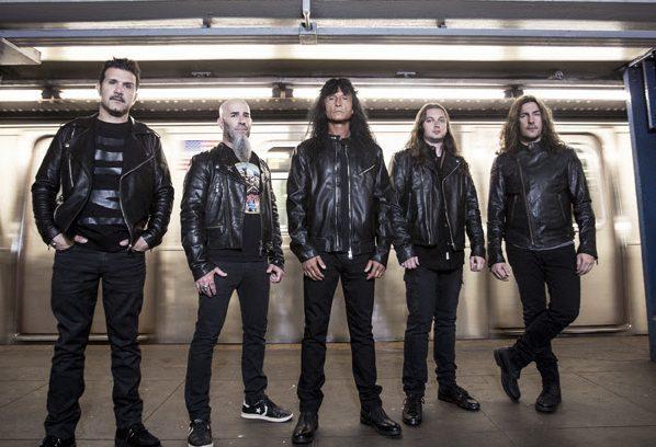 Anthrax, L-R: Charlie Benante, Scott Ian, Joey Belladonna, Jonathan Donais, Frank Bello