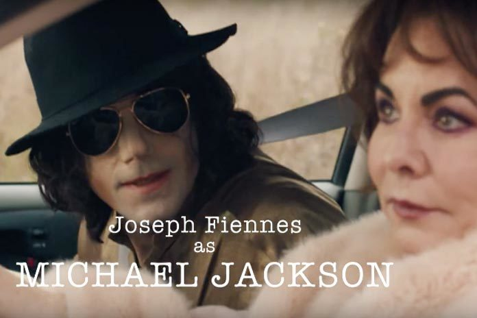 Joseph Fiennes as Michael Jackson, with Stockard Channing as Liz Taylor.