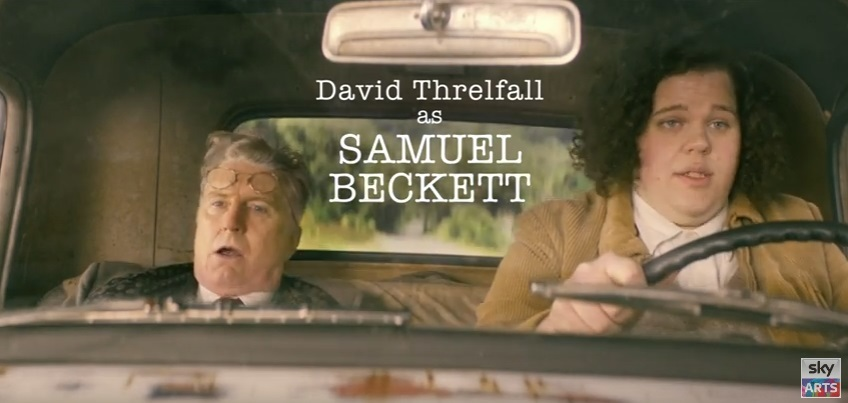 David Threlfall and Liam Macdonald as Samuel Beckett and Andre the Giant in Urban Myths.