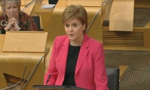 Nicola Sturgeon at FMQs.