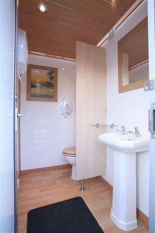 The inside of one of the luxury toilet blocks.