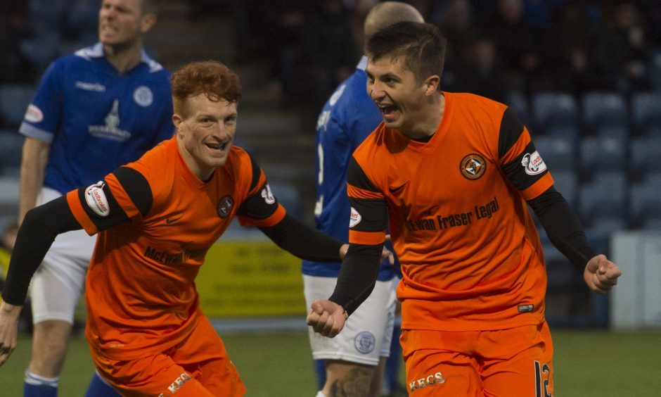 Charlie Telfer celebrates his early goal.