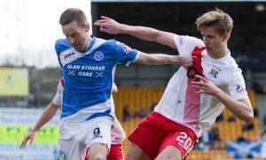 Steven MacLean in action against Kilmarnock.