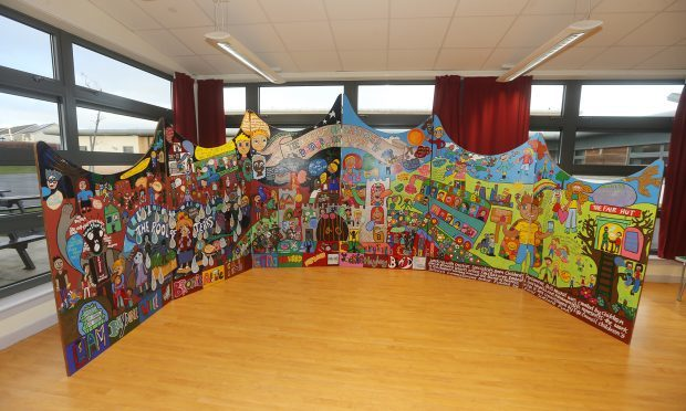 Children have been creating a Fairer Fife mural, which has toured primary schools.