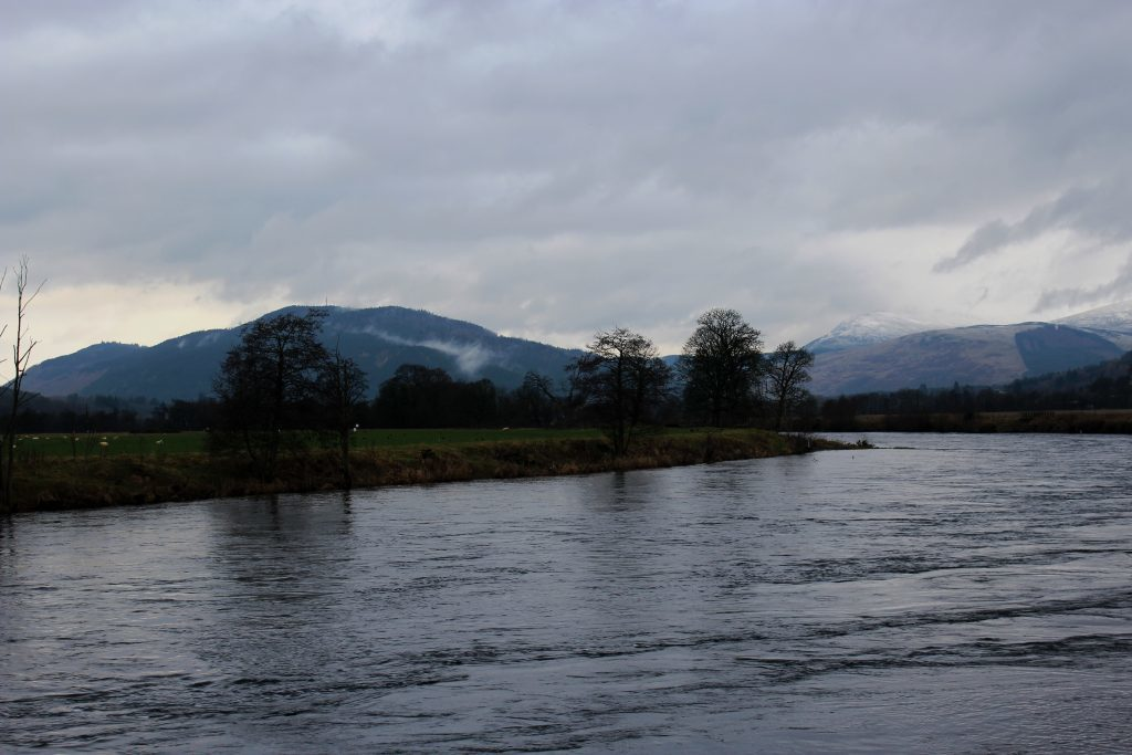 2 - Looking up the River Tay towards Drummond Hill - James Carron, Take a Hike