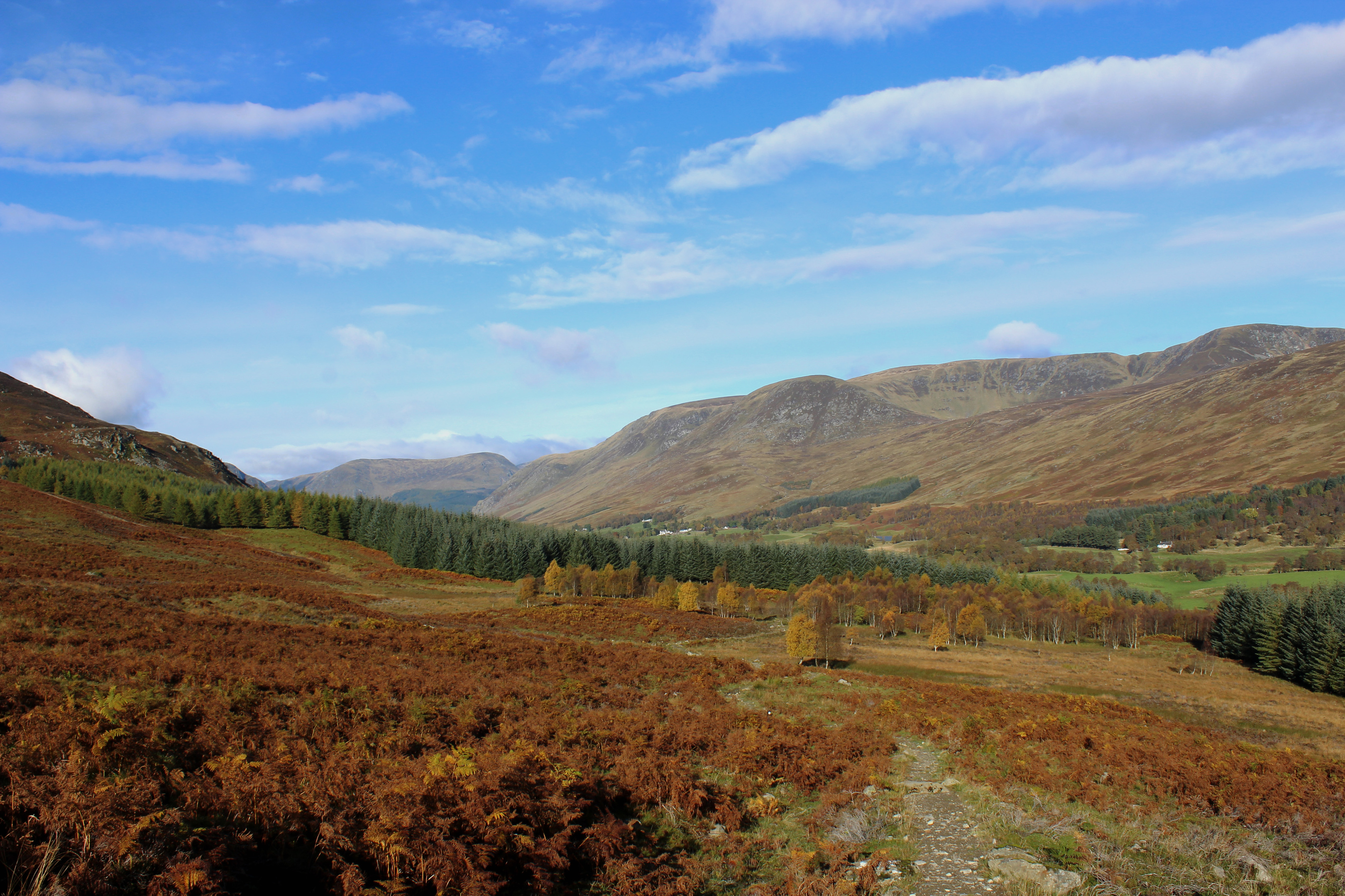 Glen Clova is a short drive away from Kirriemuir.