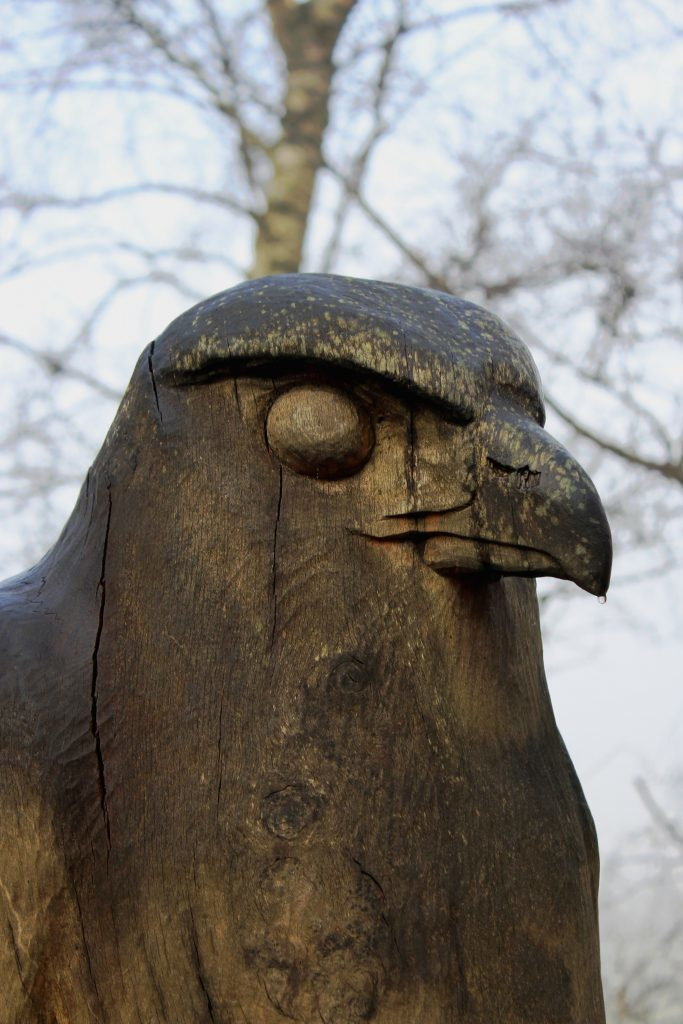 4 - A carved raptor keeping an eagle-eye out for walkers - James Carron, Take a Hike