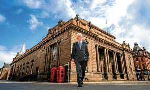 Perth and Kinross Council leader Ian Miller at Perth City Hall.