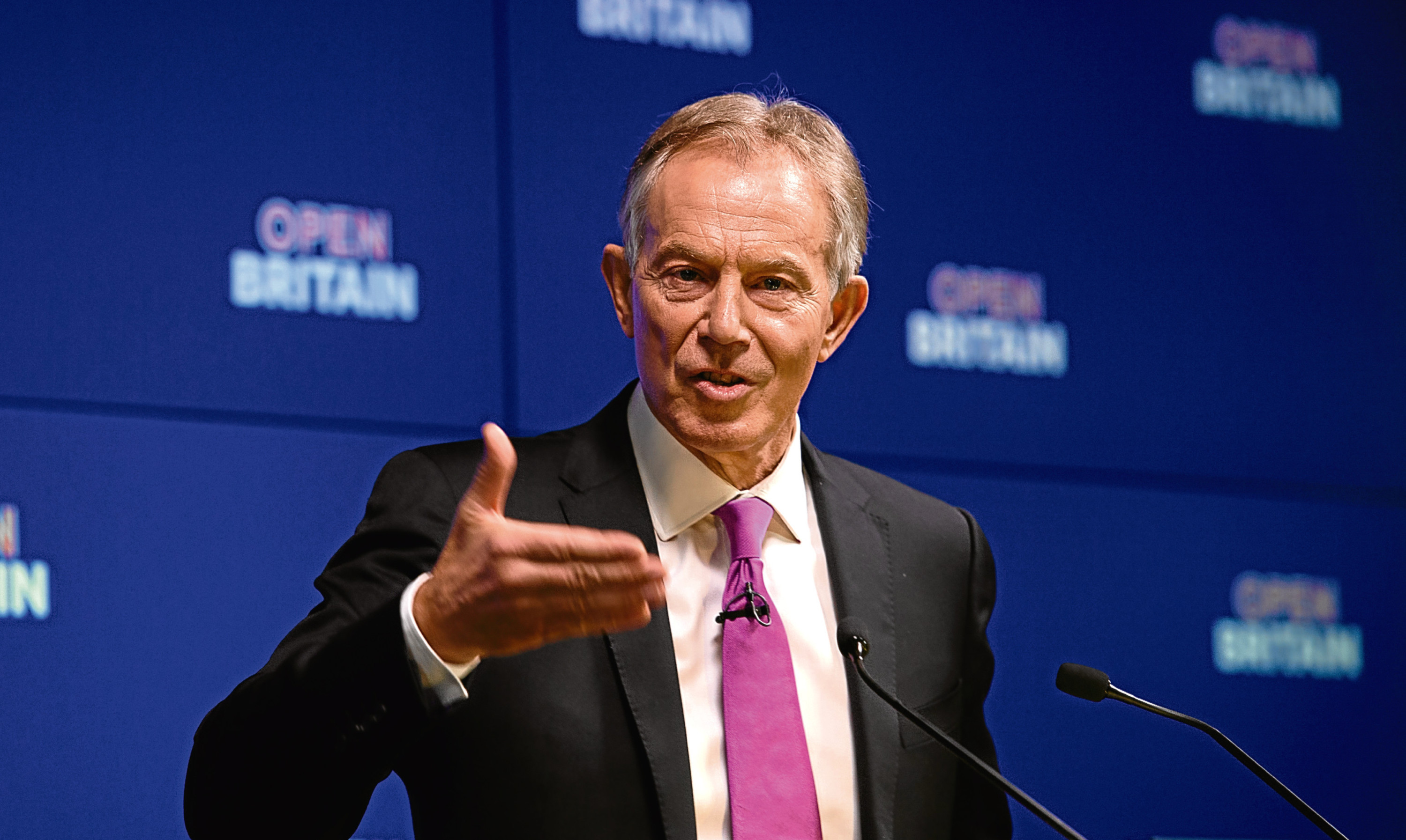 Tony Blair during his speech to Open Britain last week.