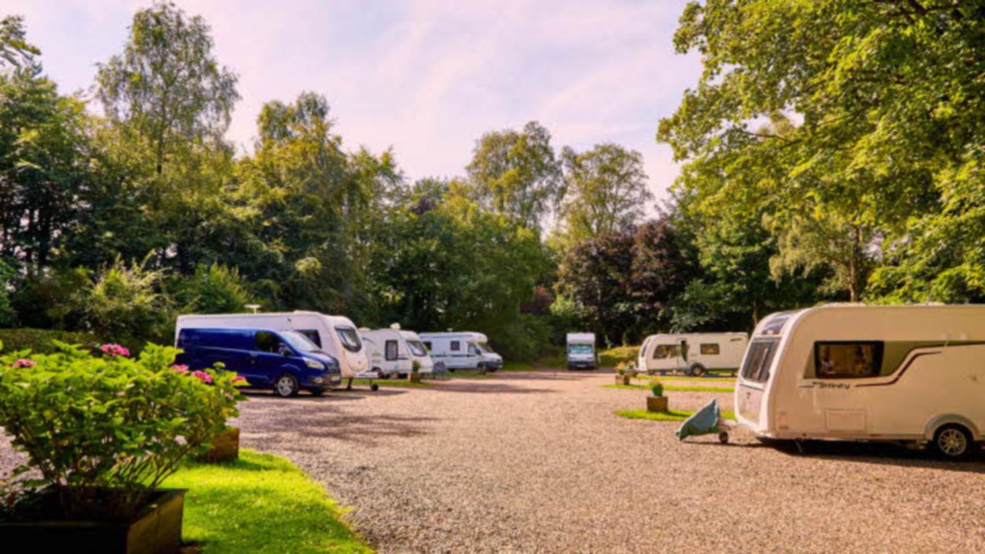 Balbirnie Park Caravan Site in Fife.