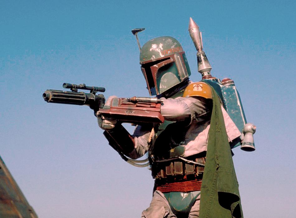 Boba Fett - a fictional bounty hunter from Star Wars
