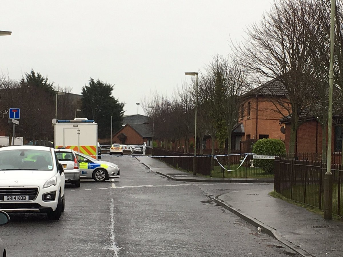 Police activity at the scene in the mid Craigie.