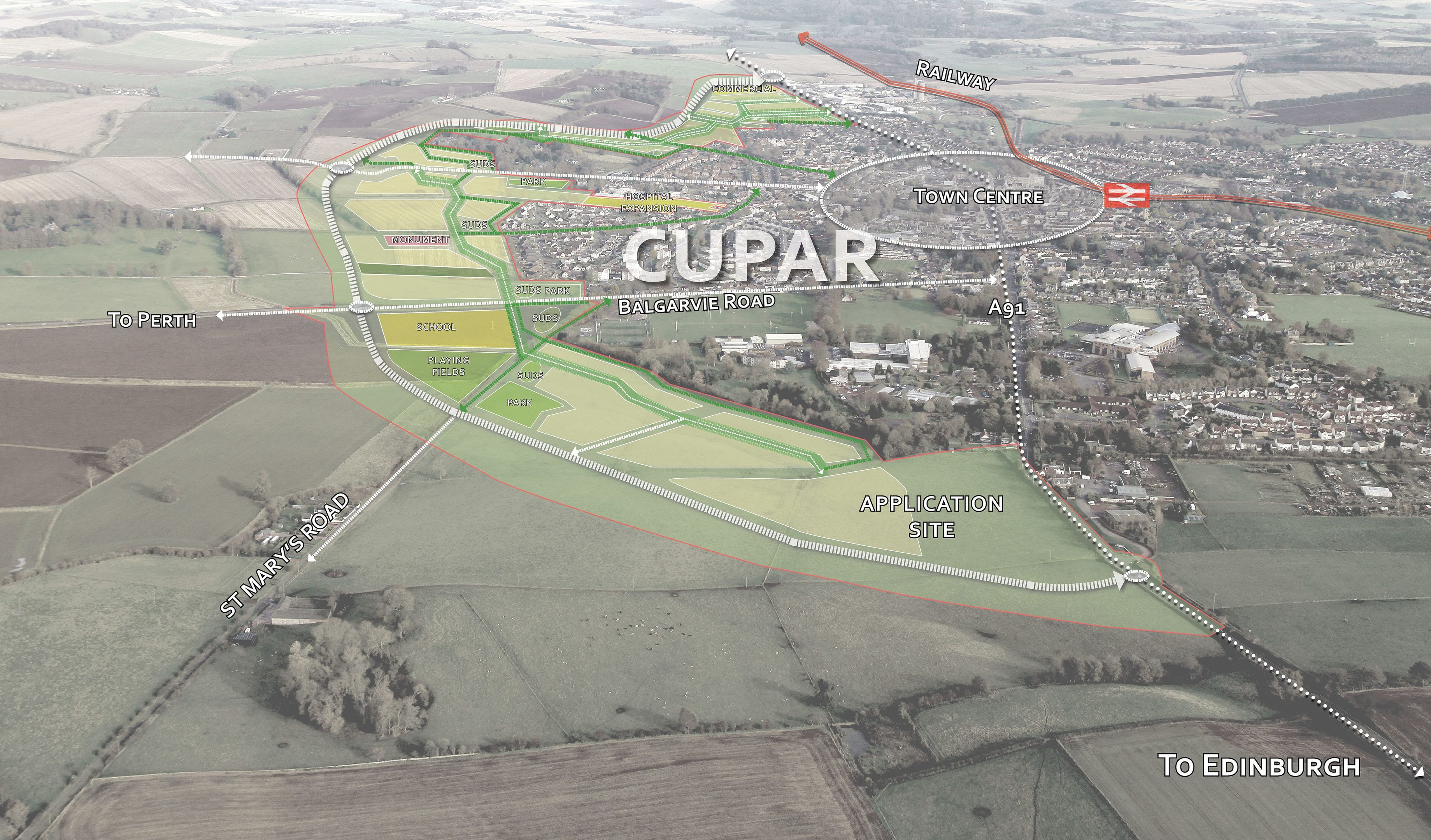 Tim brett the courier fifeplan to be adopted despite concerns over cupar north blueprint malvernweather Gallery