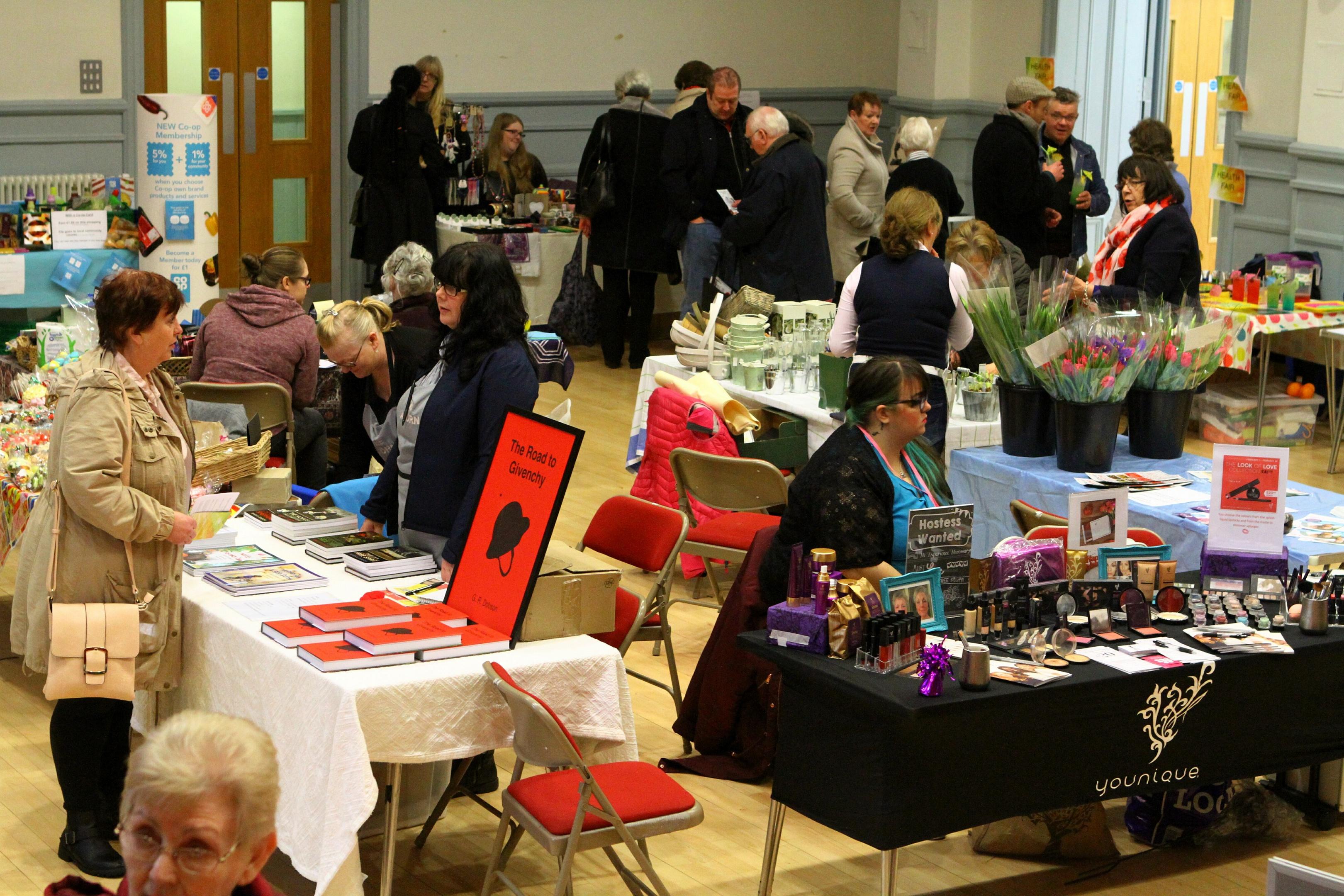 The busy Town hall fair