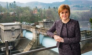 First Minister Nicola Sturgeon at SSE's new £4m Pitlochry Dam Visitor Centre.