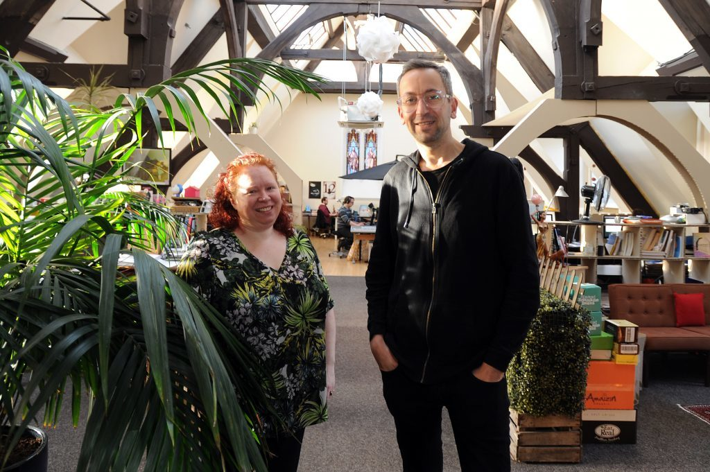 ; l to r - Donna Holford-Lovell and Lyall Bruce, Fleet Collective, Chamber Building, Panmure Street, Dundee,