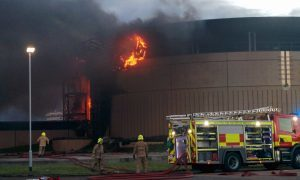 Large fire breaks out in Dundee's dockyard area
