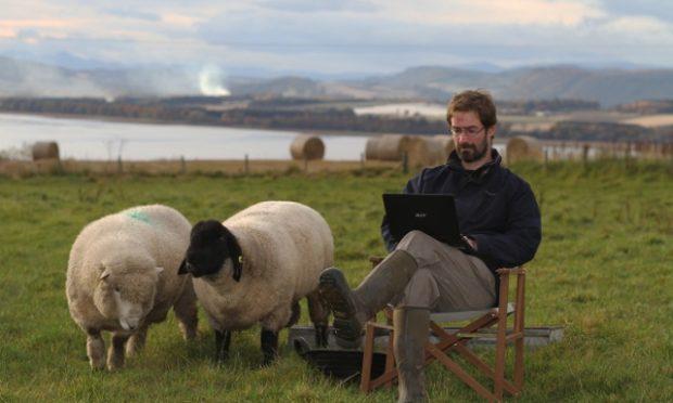 The author on his Fife farm