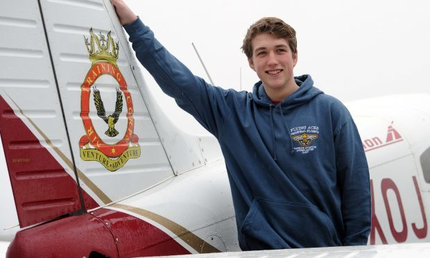 Flying Ace Laurence Hepburn is looking forward to taking to the skies.