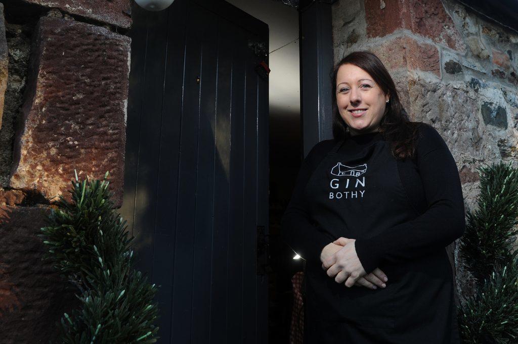 Kim Cameron at the original HQ of the Gin Bothy.