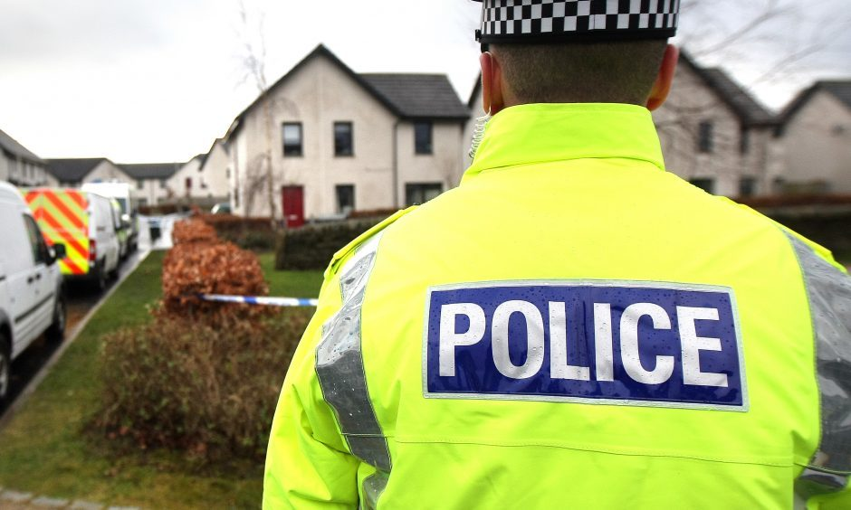 There was heavy police activity in Dunnock Park in the Muirton area of Perth on Saturday morning after an unexplained death.