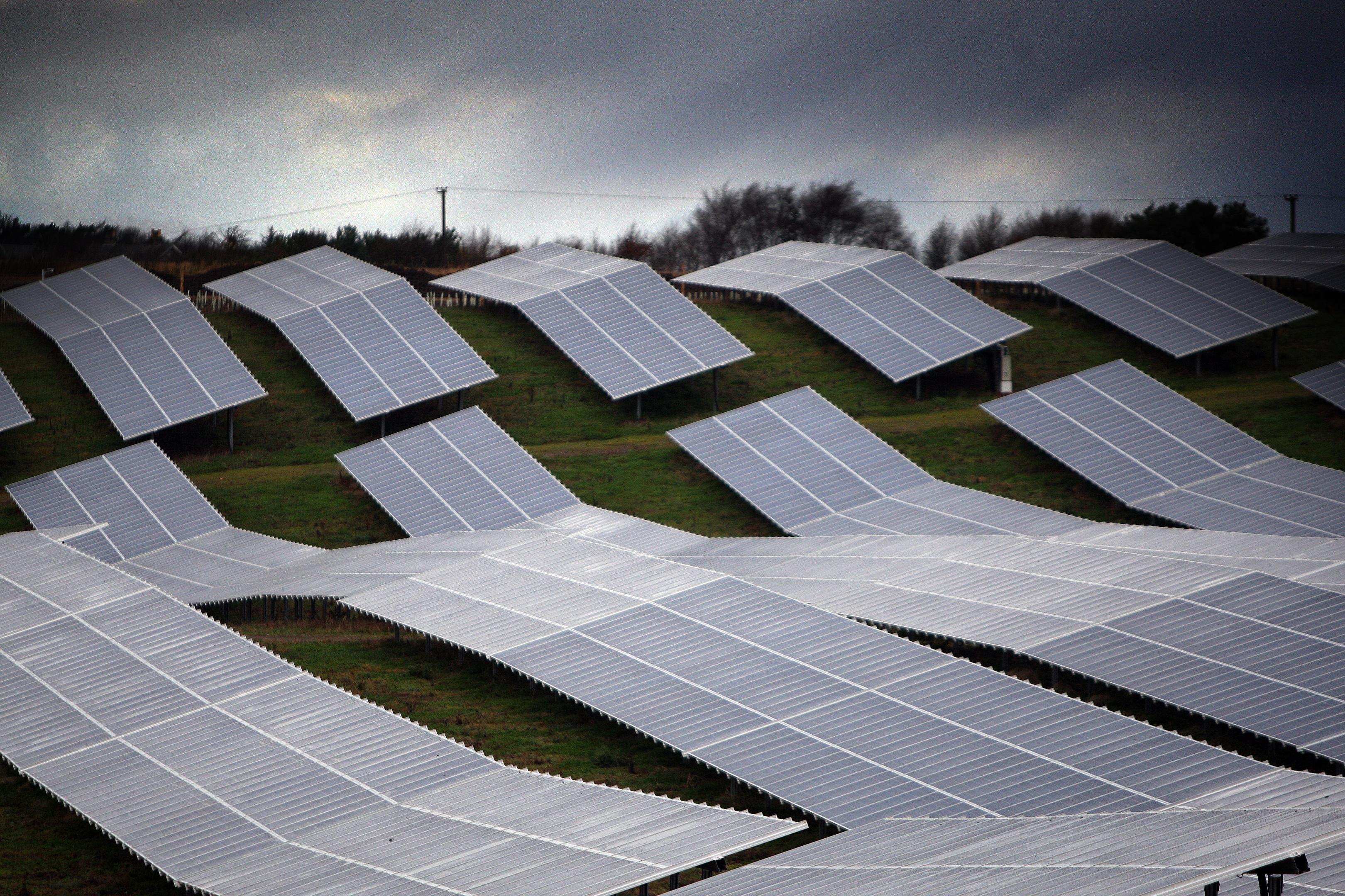 Solar farm at nearby Wormit