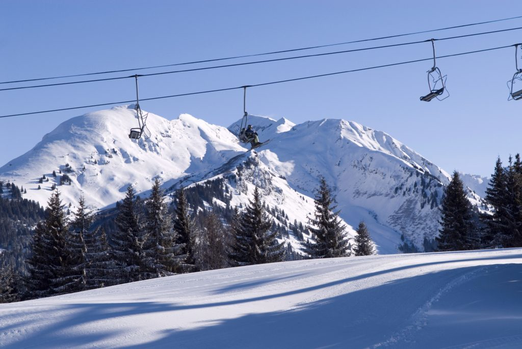 Great views over the French Alps from chairlifts.
