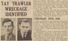 A Courier newspaper cutting from March 1940 showing Luigi Schiavetta, left, and  John Robertson, who both died in the tragedy.