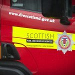 Dundee firefighters tackling flames in Broughty Ferry sheds