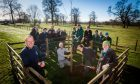 Head Gardener Brian Cunningham and Catriona Davies of the Tay Landscape Partnership, alongside Scone Palace staff and students studying Horticulture at Perth College.