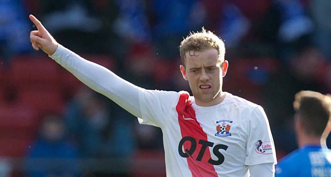 Rory McKenzie celebrates his goal.
