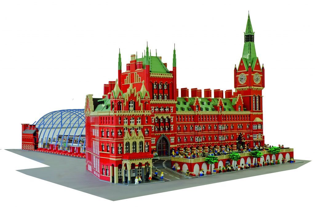St Pancras Station in LEGO.