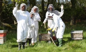 Trainee bee keepers May 2012 (c) Gavin Ramsay with copyright attached