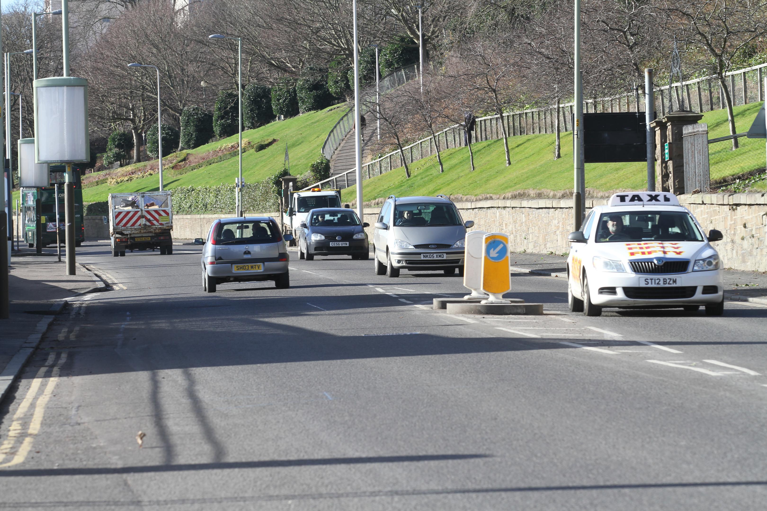 Traffic on Lochee Road.
