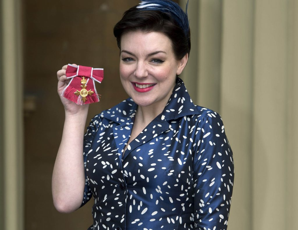 The Moorside actress Sheridan Smith after receiving her OBE (Officer of the Order of the British Empire) for services to drama.