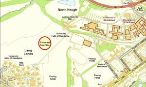 The proposed site as Langlands.