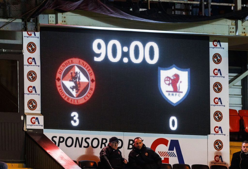 04/02/17 SCOTTISH CHAMPIONSHIP DUNDEE UNITED V RAITH ROVERS (3-0) TANNADICE - DUNDEE Tonight's full time score