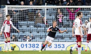 19/12/17 LADBROKES PREMIERSHIP     DUNDEE v RANGERS     DENS PARK - DUNDEE     Dundee's Mark O'Hara celebrates after opening the scoring