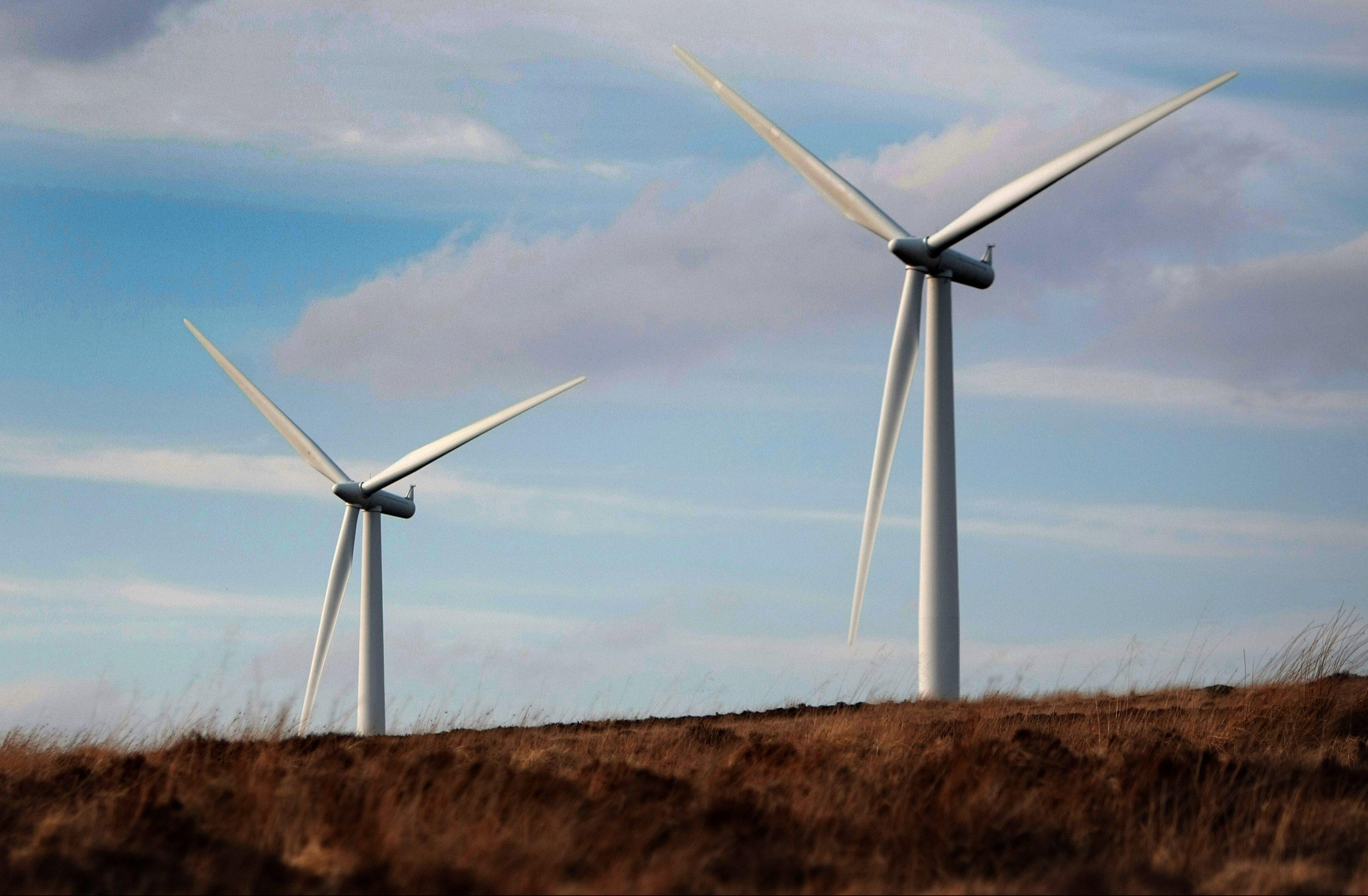 Wind turbines in Perthshire