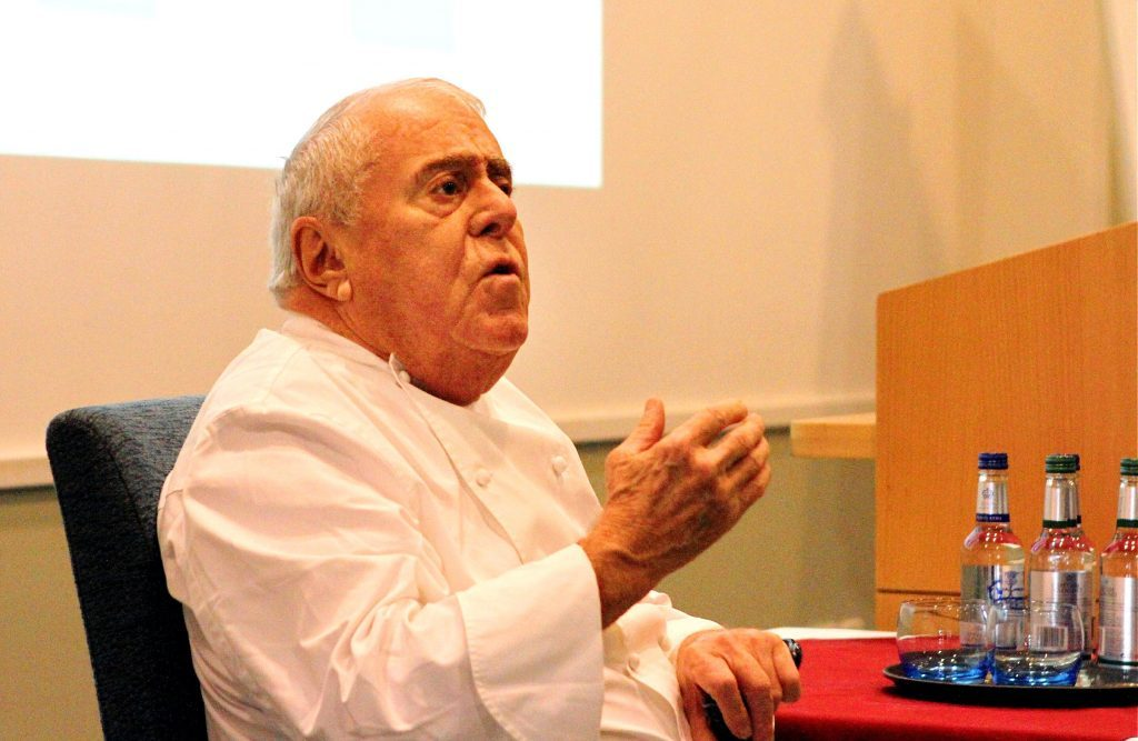 G Jennings pic, Albert Roux lecture at Dundee college