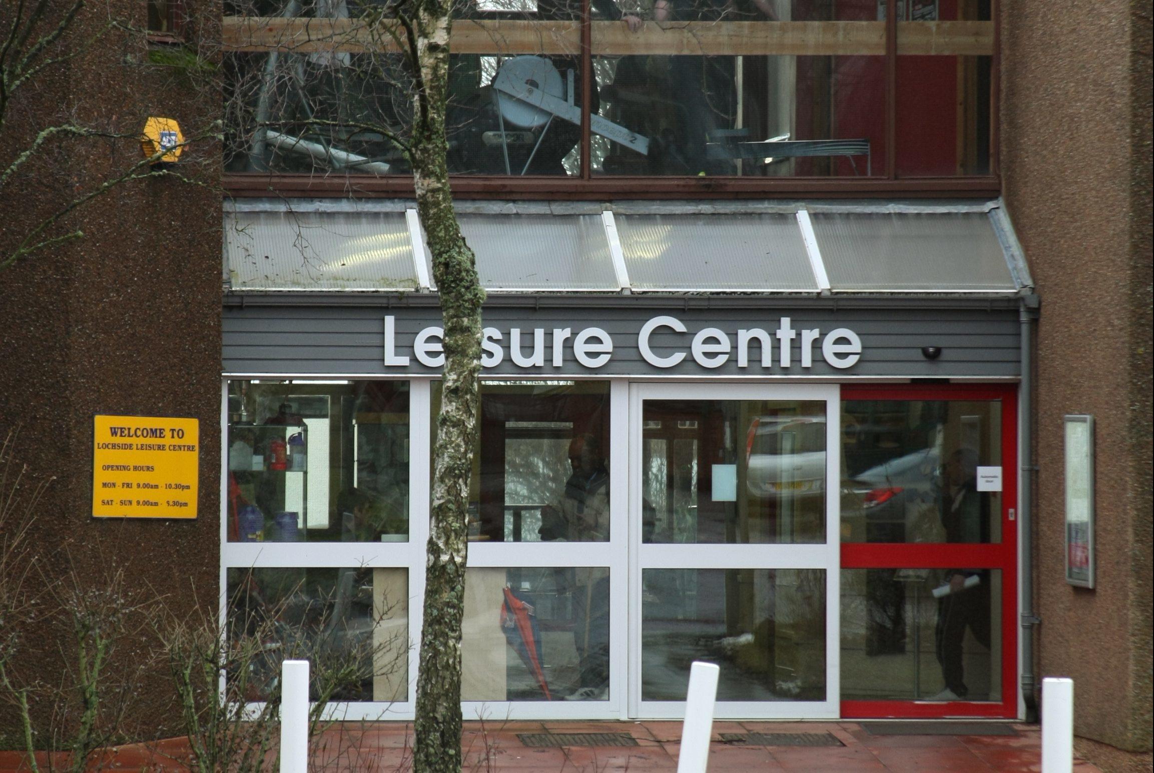 The former Lochside Leisure Centre, Forfar.