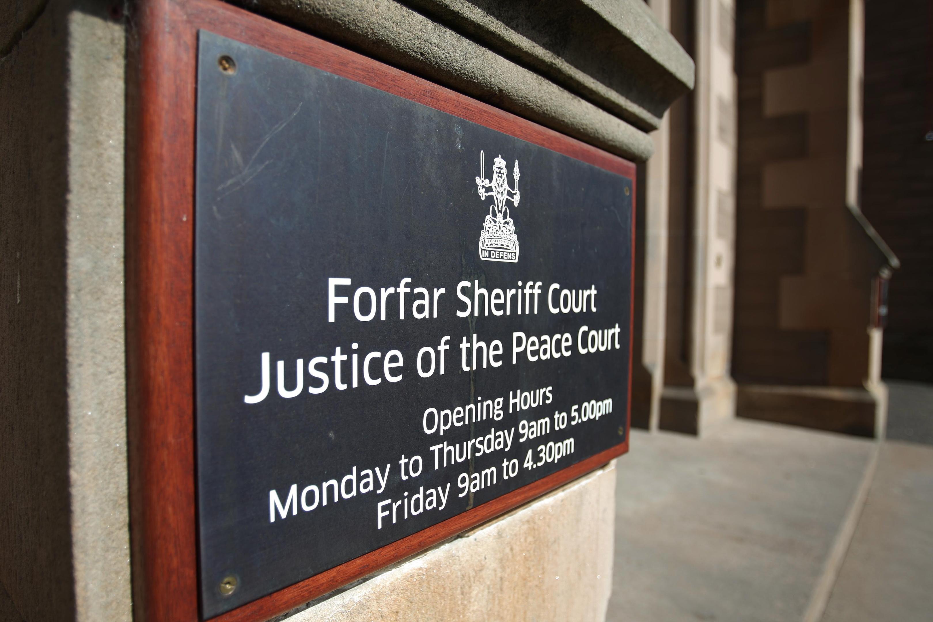 Forfar Sheriff Court.