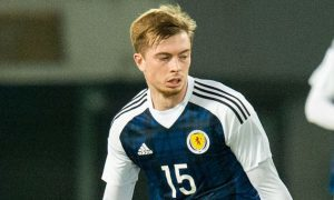 Craig Wighton in action for Scotland.