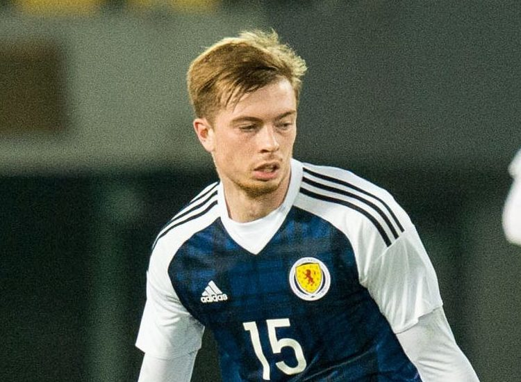 Craig Wighton in action for Scotland.