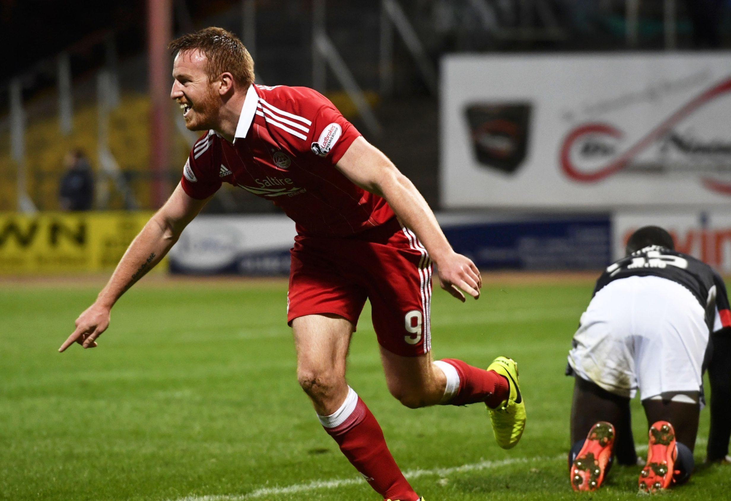 Aberdeen striker Adam Rooney.