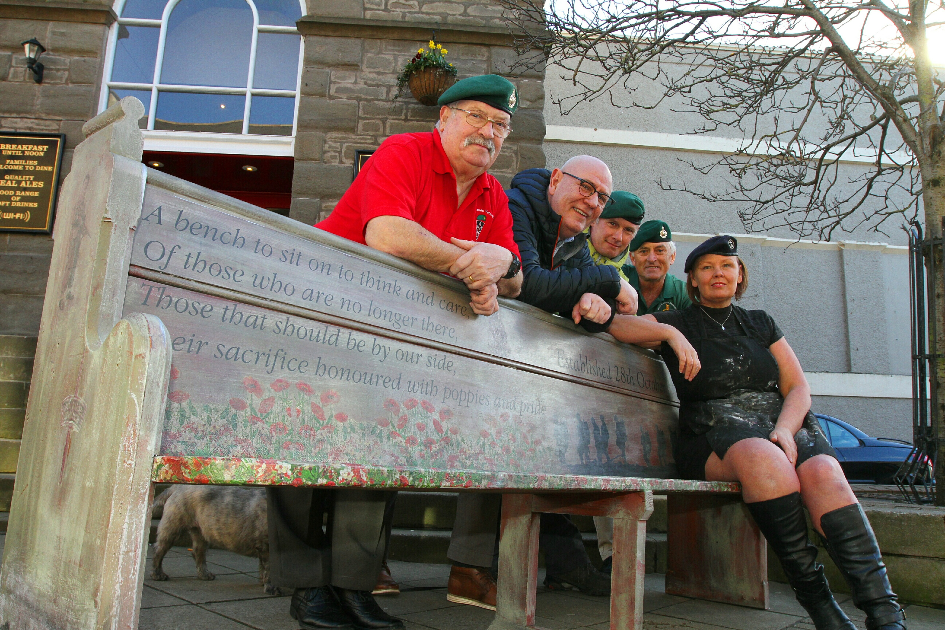418d1b411b7 DC Thomson Fiona with former serving Royal Marines, David McKaig, Robert  Alan McGregor Harris, Paul