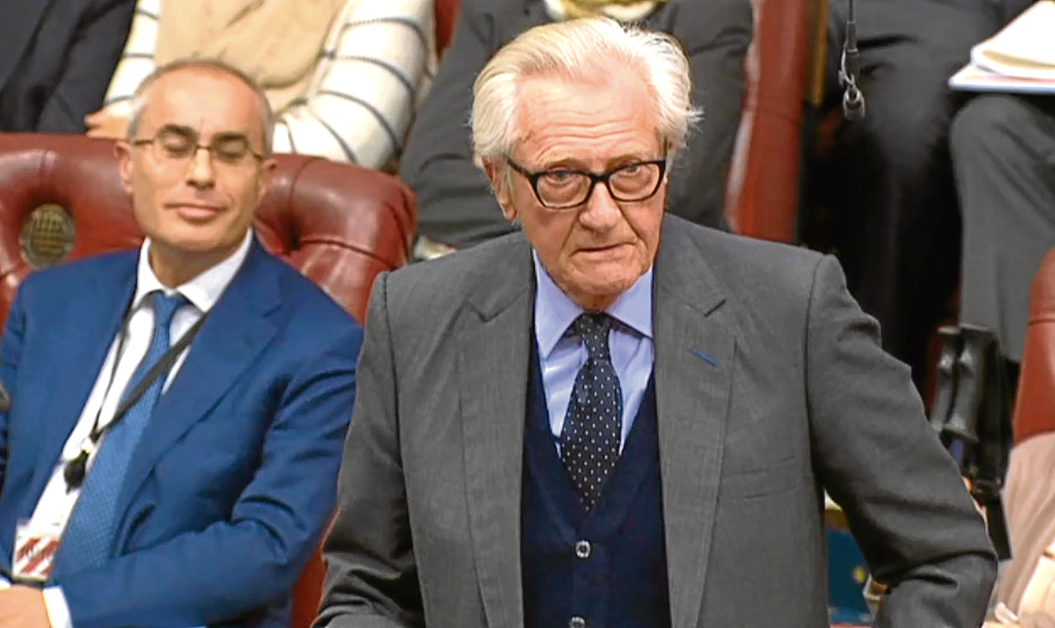 Lord Heseltine speaks in the House of Lords.