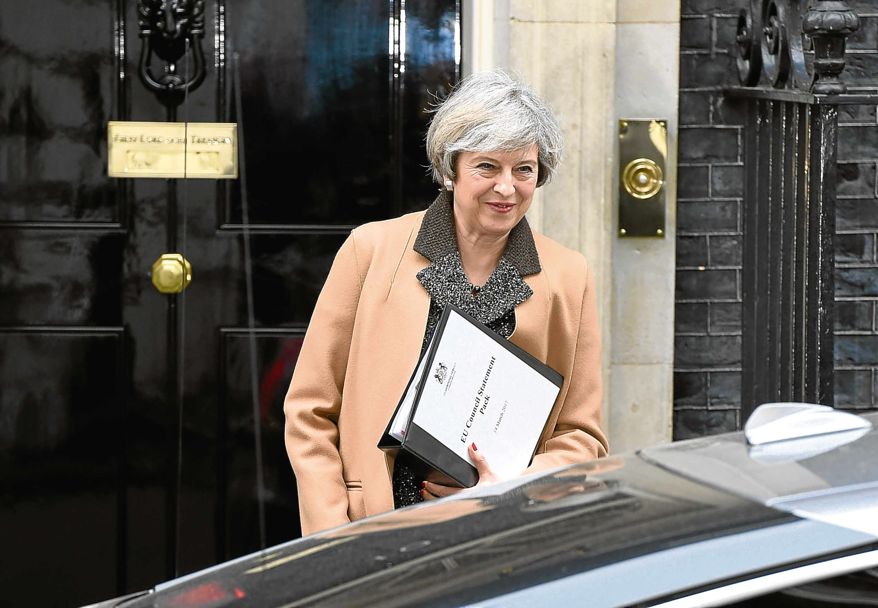 Prime Minister Theresa May leaves Downing Street for the Commons. Picture: Press Association.
