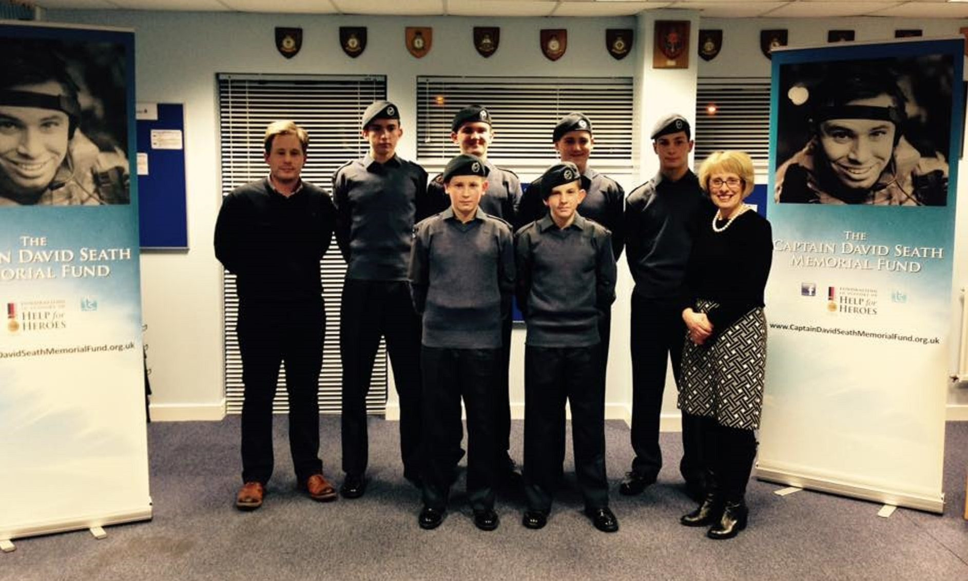 The group from the 1145 Dunfermline Squadron, of which Captain David Seath was a member.