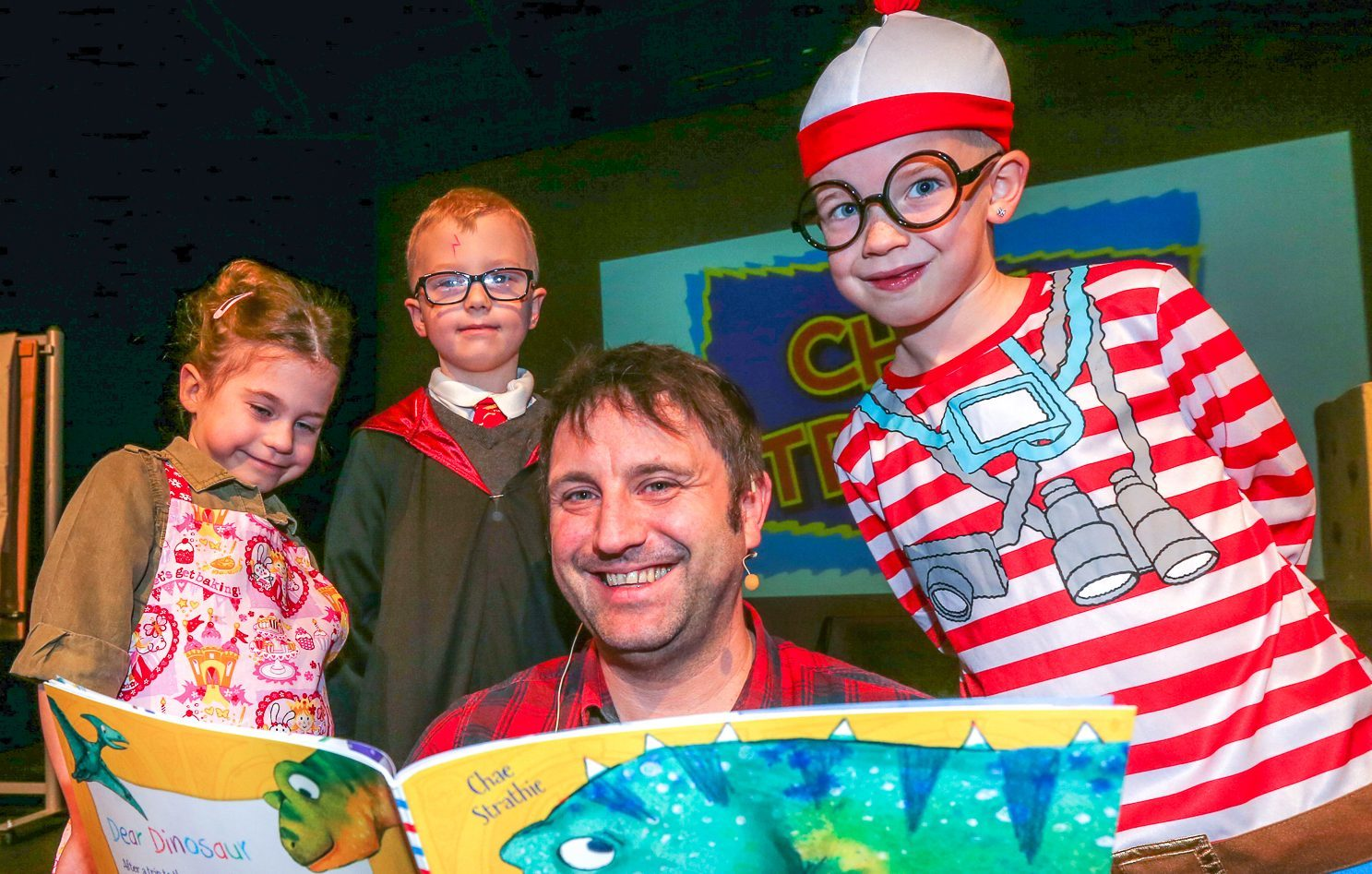 Fife author Chae Strathie at a World Book Day event in Glenrothes